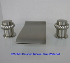 SINK WATERFALL FAUCET BRUSHED SATIN NICKEL FAUCETS SNi