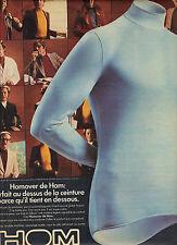 PUBLICITE  1975    HOM  sous vetements homme en silkyss maillot de corps