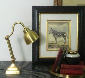 VINTAGE RETRO MODERN STYLE ADJUSTABLE BRASS DESK OR BEDSIDE TABLE LAMP