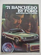 1971 Ford Ranchero Brochure
