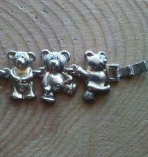 Vintage gold filled Bear link bracelet.