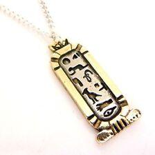 Cleopatra Amor Cartela hieroglypic Amuleto Colgante Collar Egipcio Atum Ra ja
