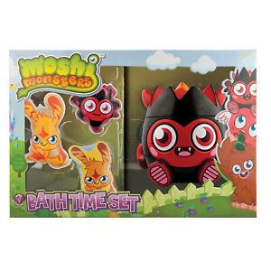 Childrens Moshi Monsters Diavlo 3D Bath Time Gift Set For Kids Shower Gel Flanel