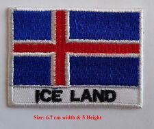 Flag of Iceland National Country Embroidered Patch/ Badge/ Logo