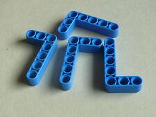 Lego 4 bras levier bleu 42032 8189 8282 8256 7680  /4 blue liftarm 3 x 5L thick