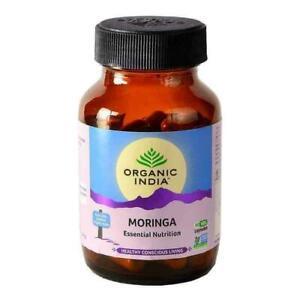 ORGANIC INDIA Moringa 60 Capsules Bottle with Free Shipping (Pack of 3)
