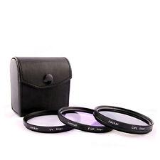 Jackar 49mm UV+CPL+FD Filter Set For Sony Zoom 18-55mm 55-210mm Primes 16 20mm