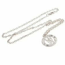 Chelsea Football Club Crest Silver Plated Pendant & Chain CR