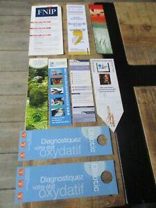 Marque pages collectors-Lot -Thème Technologies&Sciences,Fnip,Axa,Nantes,