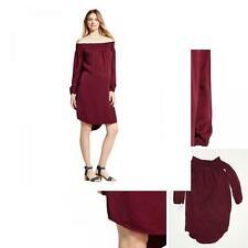 NWT Isabel Off-the Shoulder Long Sleeve Dress Maroon Medium 07145