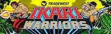 """IKARI WARRIORS"" Original ARCADE Marquee Plexiglas NICE MARQUEE!!!!!!!"