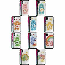 OFFICIAL CARE BEARS CLASSIC BLACK HYBRID GLASS BACK CASE FOR iPHONE PHONES