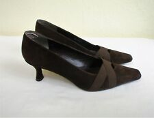 Stuart Weitzman Russell & Bromley Brown Suede Mid Heel Court Shoe UK 6½ US 8.5