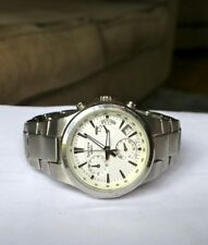 CASIO SHEEN LADIES CHRONOGRAPH STAINLESS STEEL WATCH SHE-5019D-7AEF - VGC