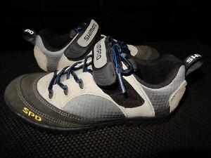 Shimano Women's size US 7.5 SH-M037 Mountain Shoes Sneakers Taupe/Black EUC