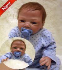 "18"" Newborn Reborn Baby Dolls Soft Silicone Vinyl Girl Boy Real Realistic Alive"