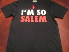 NEW I'M SO SALEM BLACK TECH FIT T-SHIRT SIZE L MA. HALLOWEEN WITCH CITY