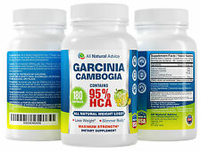 95% HCA Garcinia Cambogia 180 Capsules Pure Weight Loss Supplement - Canadian