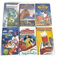 Family Night VHS Bundled Lot of 6 Kids Movies Disney Pixar Looney Tunes Cartoons