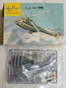 1972 HELLER CADET #L014 S.A 330 PUMA HELICOPTER - 1/100 SCALE KIT