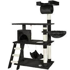 Cat Tree Scratching Post Scratch Centre Bed Toys Kitten Scratcher 141cm Black