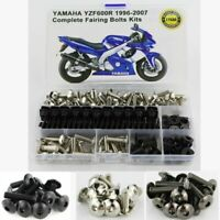 Complete Fairing Bolts Body Screws Kit Fit For Yamaha YZF-600R YZF600R 1996-2007