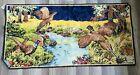 Vintage Pheasant Tapestry Rug Wall Hanging Runner 19 x 38