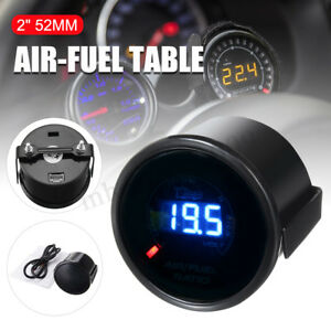 2'' 52MM 20 LED DIGITAL CAR AUTO AIR / FUEL RATIO MONITOR RACING GAUGE