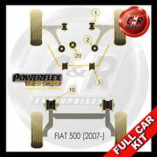 Fiat 500 Abarth (07 on) Powerflex Black Complete Bush Kit