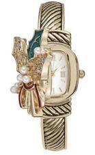 Holiday Lane Charter Club Women's Gold-Tone Holly Bracelet Watch 25mm   JC06