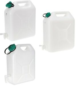 5 10 20 Litre Plastic Water Carrier with Tap Jerry Can Food Grade Container