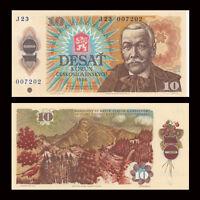 Czechoslovakia 10 Korun Banknote, 1986, P-94, UNC, Europe Paper Money