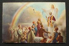 """Italien 1950: Ansichts-Postkarte postcard """"Anno Santo"""" v Rom n. Bad Godesberg"""