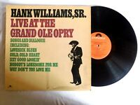 Hank Williams Sr.- Live At The Grand Ole Opry - MGM 1976