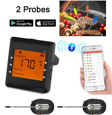 2 Probes Wireless Bluetooth BBQ Meat Thermometer Food Cooking Oven Grill Smoker