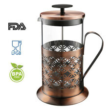 Rackaphile 8 Cup 1L French Press Cafetiere Stainless Steel Filter Coffee Maker