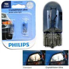 Philips Crystal Vision Ultra 194 4W Two Bulbs License Plate Light Stock OE T10