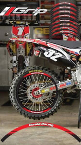 HONDA RACING CR CRF RIM WHEEL STICKERS DECALS GRAPHICS TAPES CR 85 125 250 450