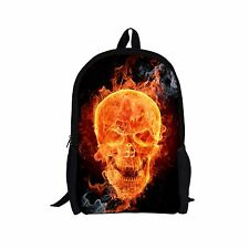 Cool Skull Image Backpack Boys School Bags Travel Rucksack Bookbag Shoulder Bag