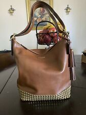 COACH Duffle Legacy Studded #26413 Tan Leather Shoulder Bag