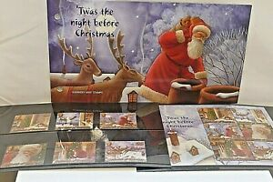 GUERNSEY MINT STAMPS ~ Twas The Night Before Christmas ~ 2 Sets ~ 12 Stamps