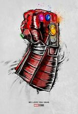Marvel Avengers: Endgame Movie Poster (We Love You 3000) Iron Man - 11x17 13x19