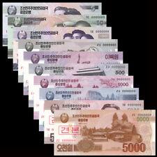 Asian Set 10 PCS, 5 10 50 100 - 5000 Won, Specimen, UNC