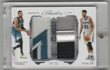 2016-17 Panini Flawless Karl Anthony Towns Tim Duncan Jersey Patch Relic /25