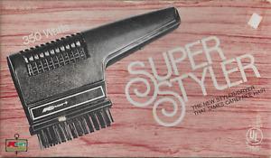 Vintage Ladies K-Mart Hair Dryer Super Styler 350 watts w Box & Accessories