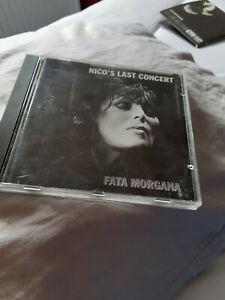 NICO CD. NICO'S LAST CONCERT. FATA MORGANA NICO + THE FACTION VELVET UNDERGROUND