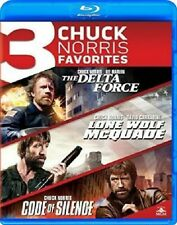 THE DELTA FORCE + LONE WOLF MCQUADE + CODE OF SILENCE (CHUCK NORRIS) **BLU-RAY**