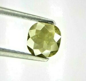 Natural Diamond Real Diam 0.93TCW Grayish Green Oval Full cut for Mother Gift