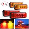 "4x 3.9"" Red Amber 3-LED Side Marker Lights Clearance Light Truck Trailer RV 12V"