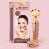 Anti Aging Face Massager Wand Gold Sonic Beauty Vibrating Massage Wrinkle Reduce